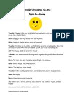 Bee Happy Response Reading for Kids