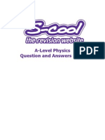 Physics (a-Level) Revision Worksheet