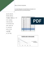 Determine  y grafique  la  función  de demanda finalizado