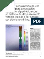 Diseño y construcción de una prótesis para amputación transfemoral pediátrica