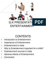 Presentation on Entertainment