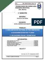 Calculo Vectorial 1.5 Al 1.7