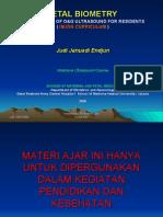 USG Intensif 8. Fetal Biometry Based on ISUOG JJE 20080901