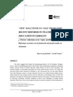 Nuevas Soluciones a Viejos Problemas Formacion de Profesores en Alemania