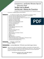 2013 high school and beyond invitation - transition fair