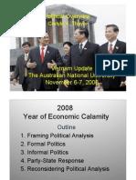 Thayer Vietnam Political Developments in 2008