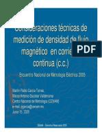 PRE-Consideraciones tecnicas de medicion de densidad de flujo magnético