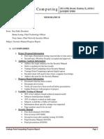 Vantage Point Computing Progress Report