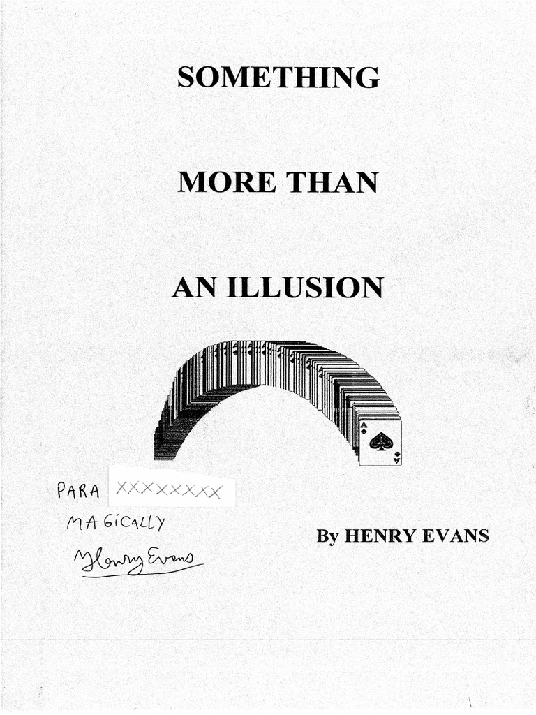 Henry Evans - Something More Than an Illusion