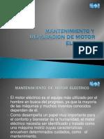 Mant Repa Motor Electrico