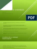 Control de Variable