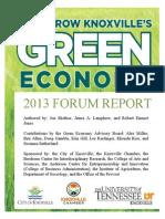 2013 GE Forum Report