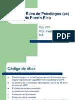 Codigo de Etica de Psicologos (as)