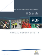 Department of Police and Emergency Management annual report 2012-13