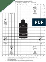 m4 Carbine Zero target