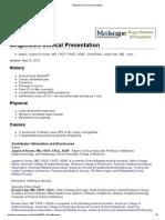 Shigellosis Clinical Presentation