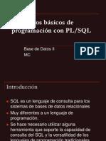 9 La programaci¾n con PLSQL