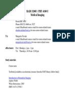 syllabus-2013 medical imaging