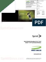 SprintGurus - Novatel Merlin C777 - Get Started Guide