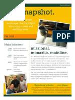 Missional Wisdom 2013 Quarterly Report