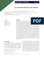 Keller Et Al. 2013 Plasticidad Altitudinal
