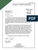 Thomas Weaver letter