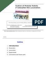 A New Application of Modular Robots on Analysis of Caterpillar-like Locomotion. ICM-2009