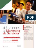 43 Recetas Marketing de Servicios