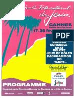 Cannes 1989 Plaquette