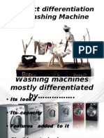 Product Differentiation in Washing Machine, mobile phone and tv