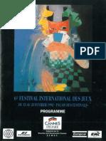 Cannes 1992 Plaquette