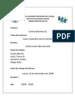Informe 6 Calor Especifico de Solidos