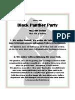 Das 10 Punkte Programm der Black Panther (deutsch)