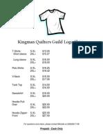 kingman quilters guild t-shirt