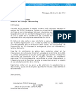 Carta Solicitud Escuela Masivas Julio