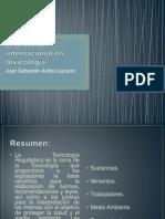 Legislación internacional en toxicología