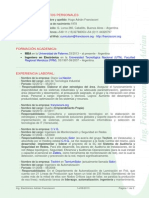 CV Ing Adrian Francisconi