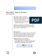 Word 07 Table of Contents