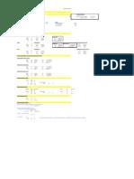 Tabela para calculo direto de Estação de Tratamento de Esgoto