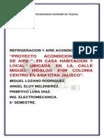Proyecto Refrigercion y Aire Acondicionado