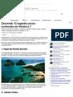 Desvende 10 segredos pouco conhecidos do Windows 7 (Matérias)