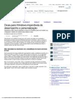 Dicas para Windows imperdíveis de desempenho e personalização (Dicas) - Superdownloads