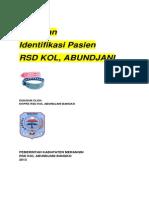 Draft Panduan Identifikasi Pasien Rsd Kol Abundjani