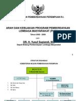 20060418 Arah Kebijakan Pemberdayaan Lembaga Masyarakat (PLM)