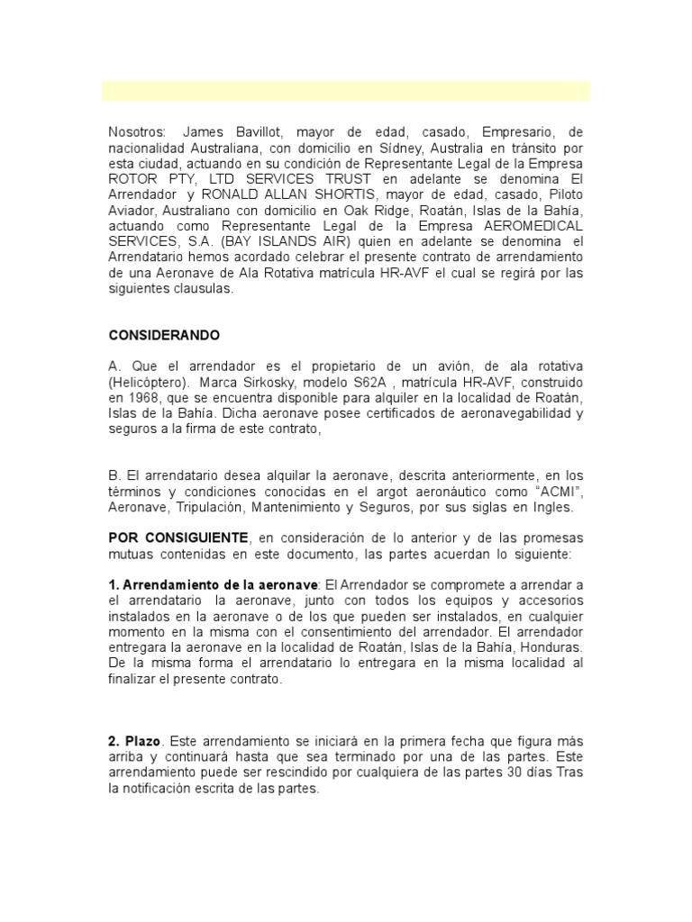 Contrato en Formato Cuadrado[1] to de Aeronave