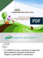 Ley general de equilibrio ecológico y protección al JAKI Y DANTE