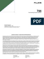 FLUKE 744 Manual