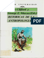 James Clifford George E. Marcus Retoricas de La Antropologia 1991