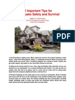 10 Important Tips For Earthquake Safety and Survival