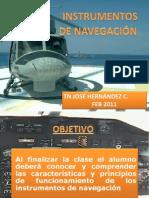 INSTRUMENTOS DE NAVEGACION TN. JOSÉ HERNÁNDEZ C. FEB 2011